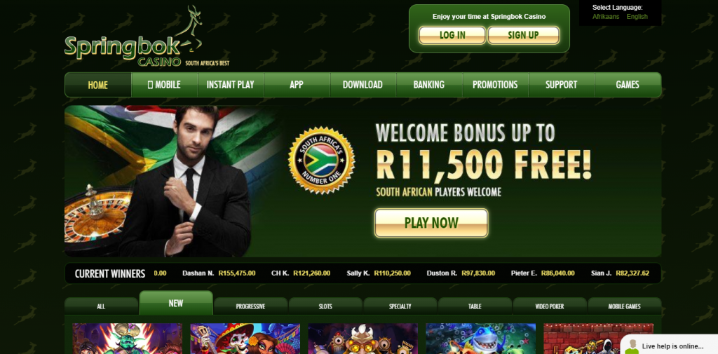 Springbok casino no deposit codes